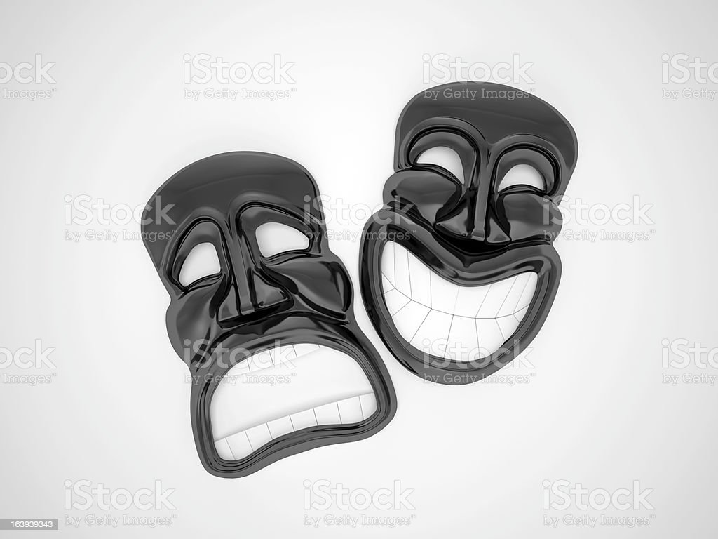 Black theater masks royalty-free stock photo