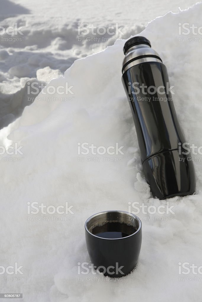 black thermos stock photo