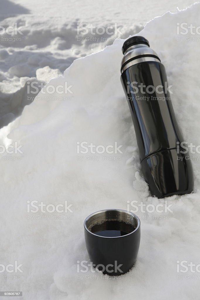 black thermos stock photo