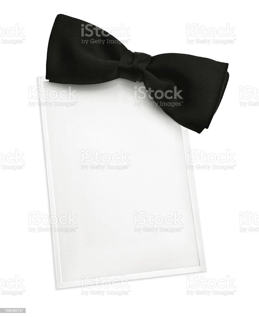 Black Tie Invitation stock photo