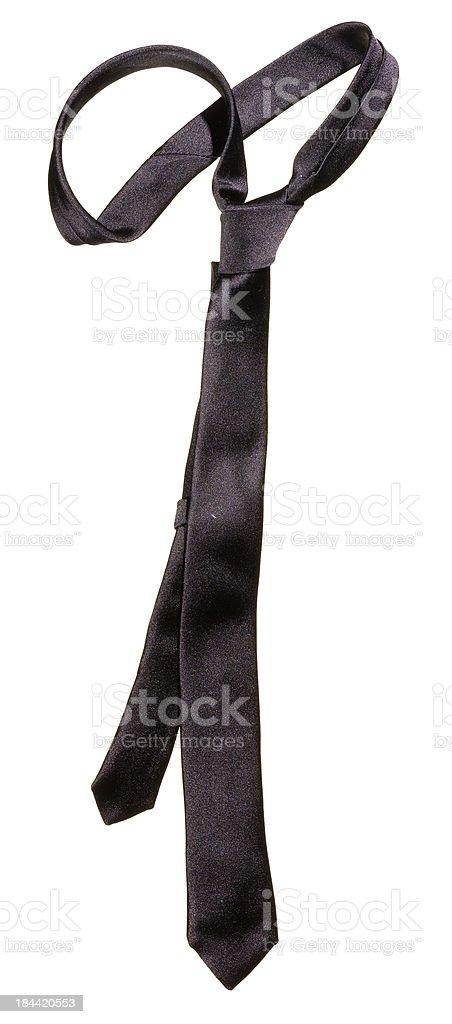 Black tie stock photo