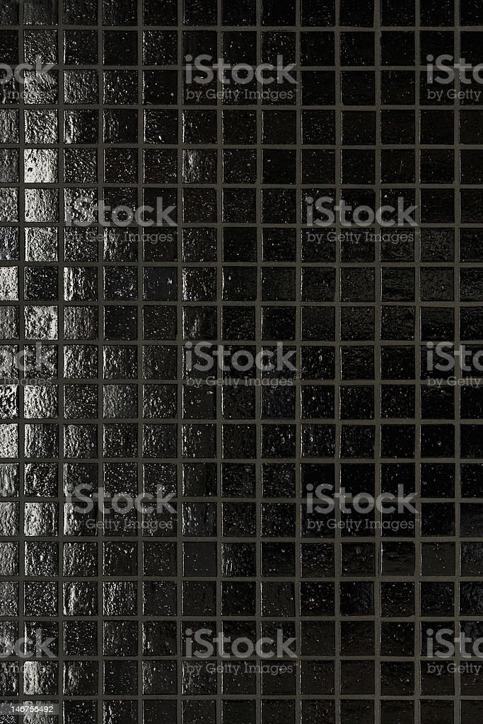 Black tile background stock photo