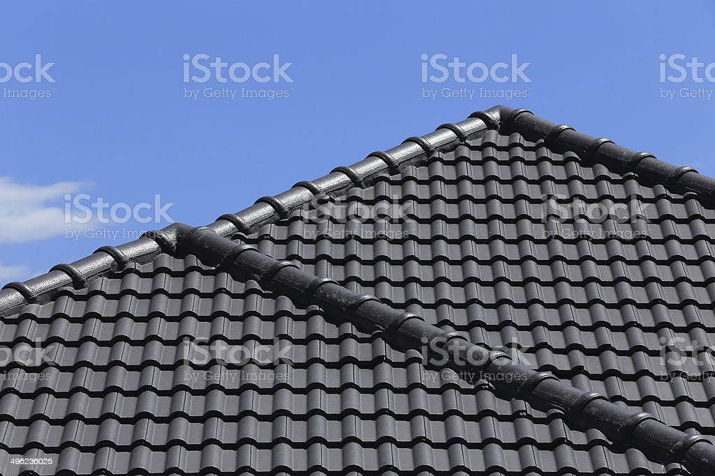 black tiles roof royalty-free stock photo
