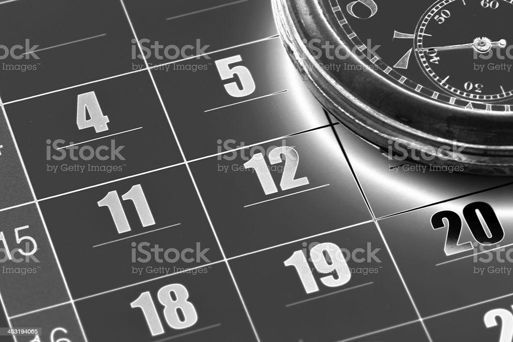Black time stock photo