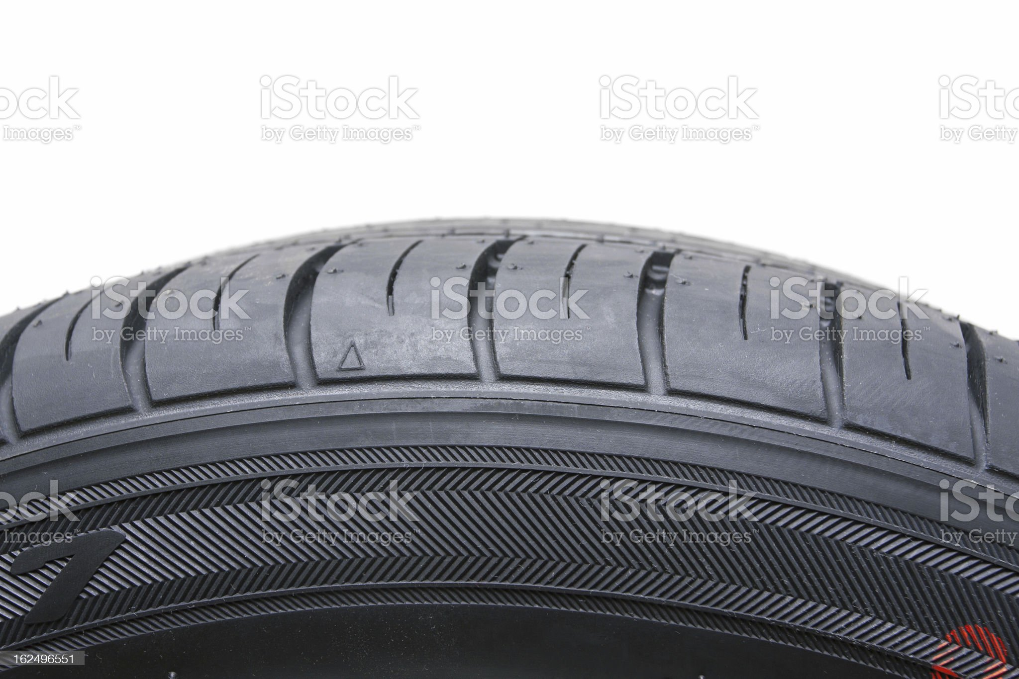 Black Tire isolated on white background royalty-free stock photo