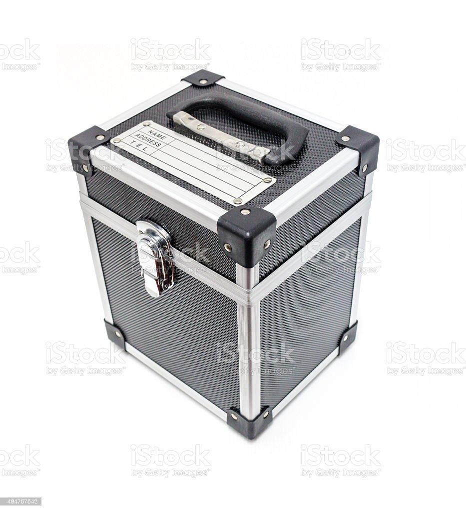 Black tool box engineering royalty-free stock photo