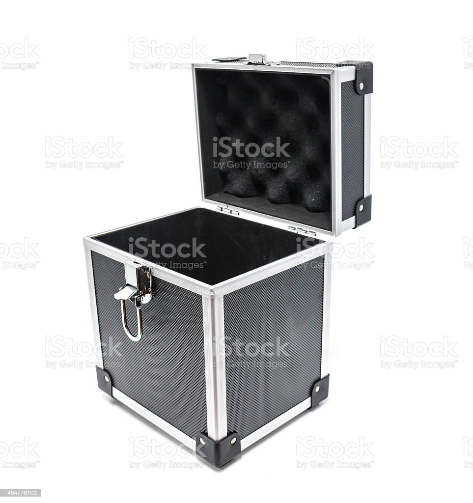 Black tool box engineering royalty-free stock photo