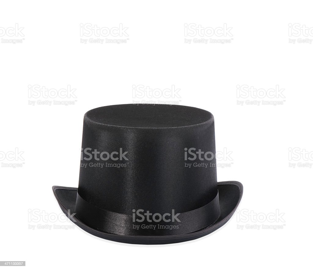 Black top hat isolated on white background royalty-free stock photo