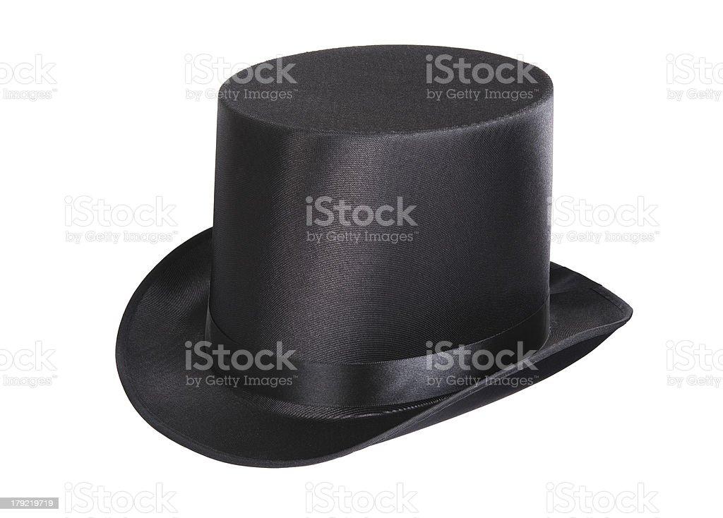 Black top hat stock photo