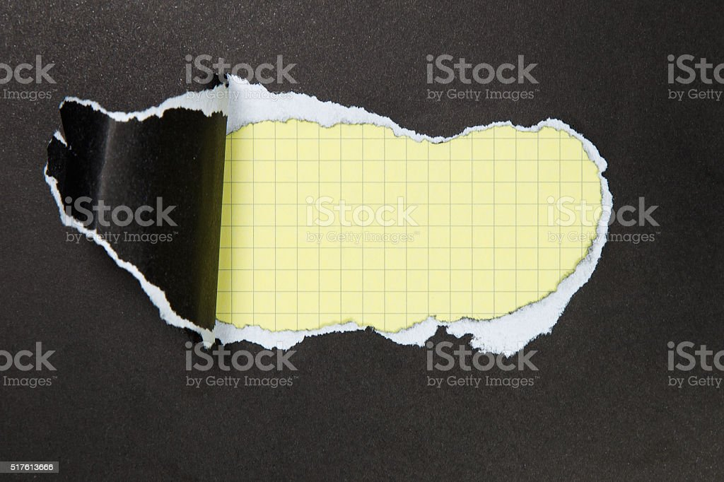 black torn paper. space stock photo
