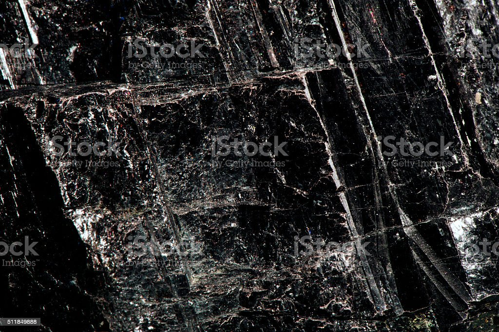 Black Tourmaline stock photo