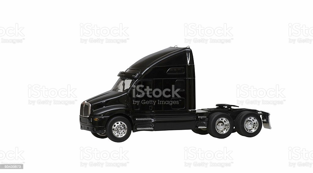 black toy truck isolated on white background royalty-free stock photo