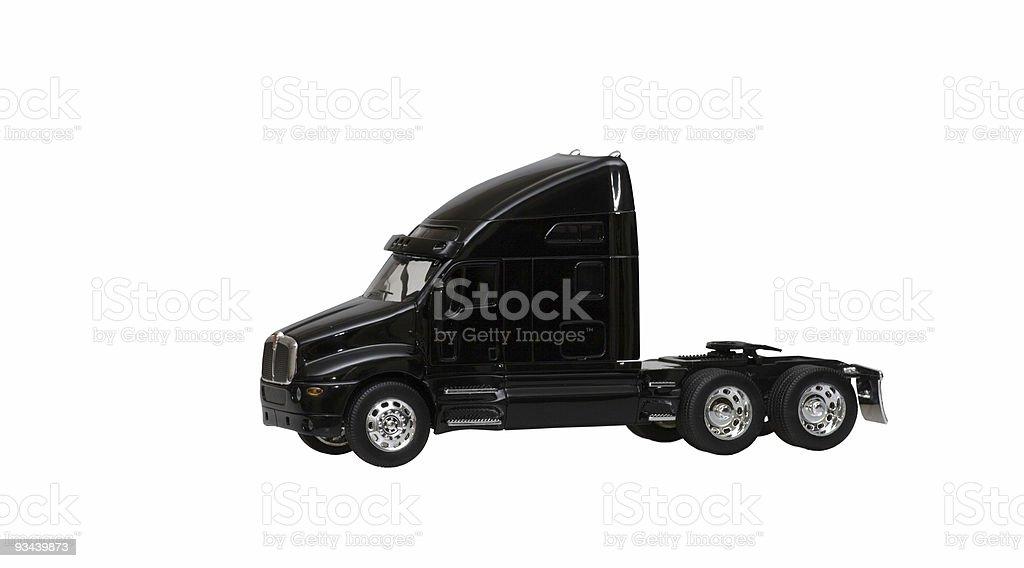 black toy truck isolated on white background stock photo