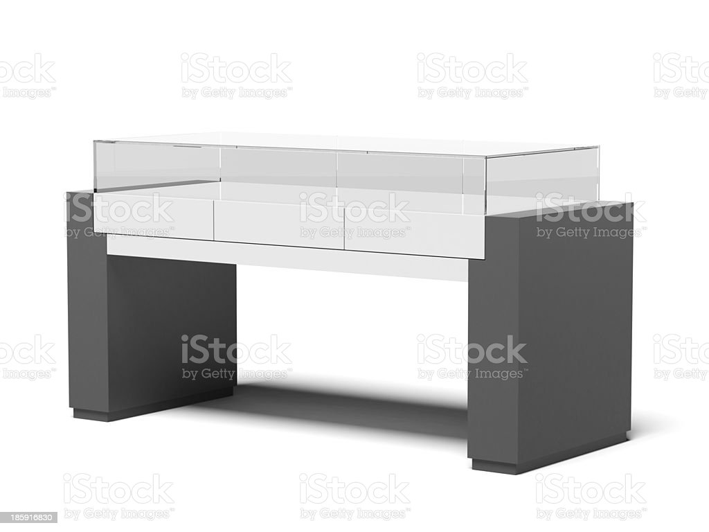 Black trade stand royalty-free stock photo