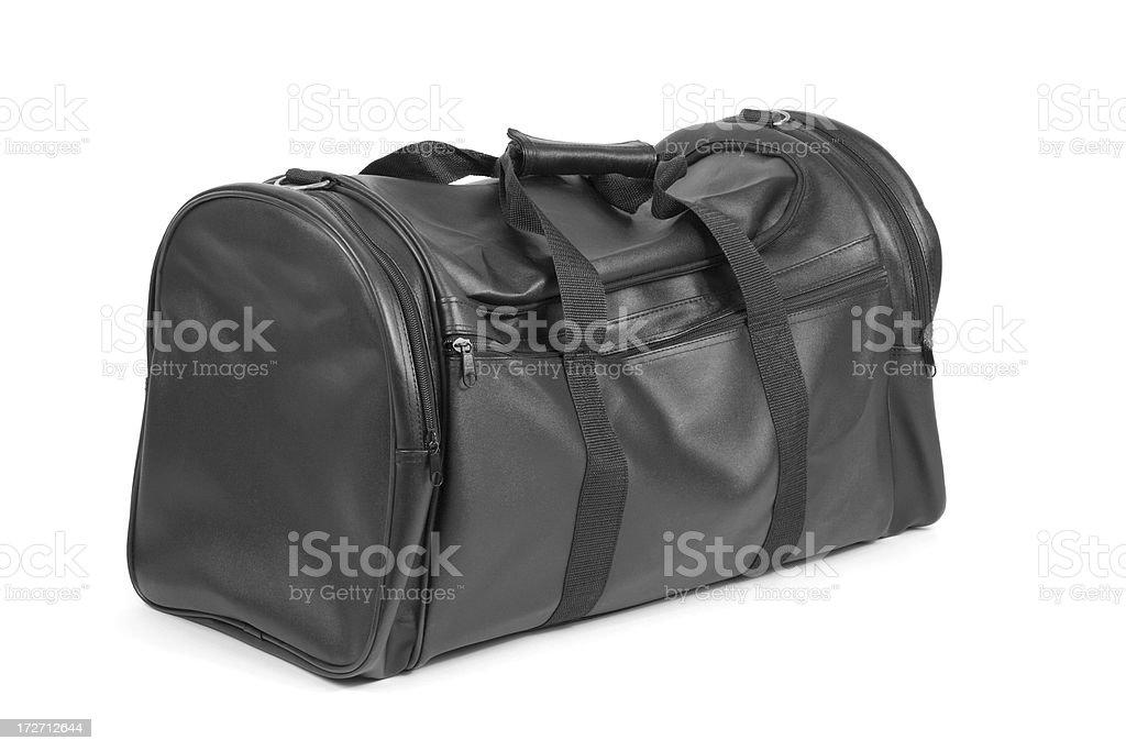 Black Travel Bag Isolated on White stock photo