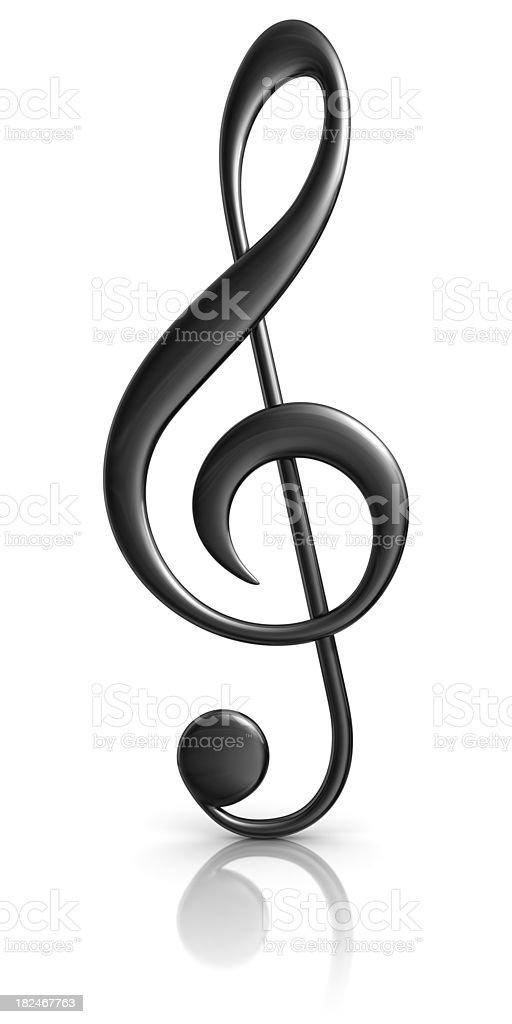 black treble clef stock photo