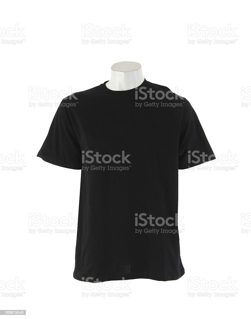 Black T-shirt isolated royalty-free stock photo