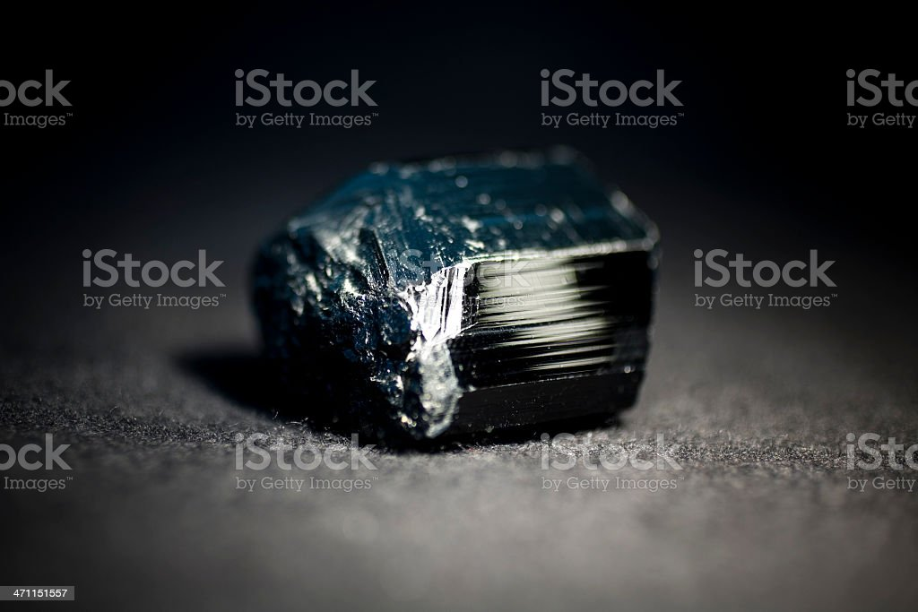 Black Turmalin stock photo