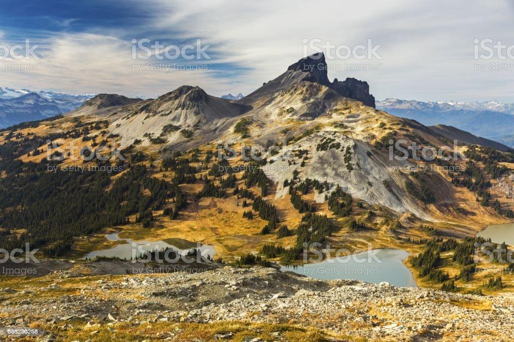 Black Tusk Garibaldi Lake Park in BC Coast Mountains stock photo