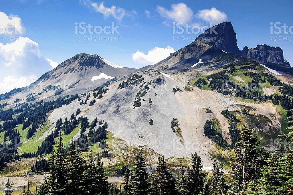 black tusk mountain garibaldi provincial park british columbia near whistler stock photo