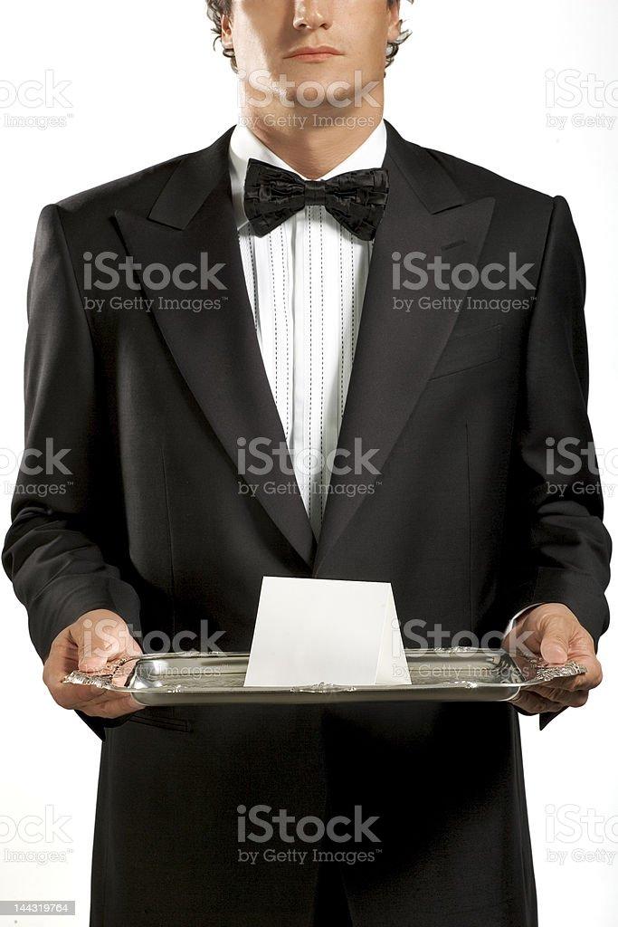 Black Tux Waiter royalty-free stock photo