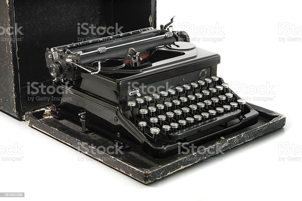 Black Typewriter on white background royalty-free stock photo
