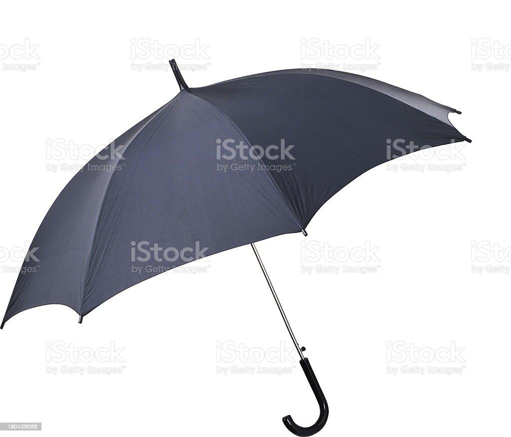 Black umbrella on white background royalty-free stock photo