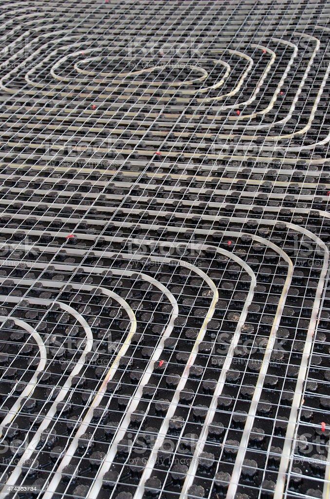 Black underfloor Heating stock photo