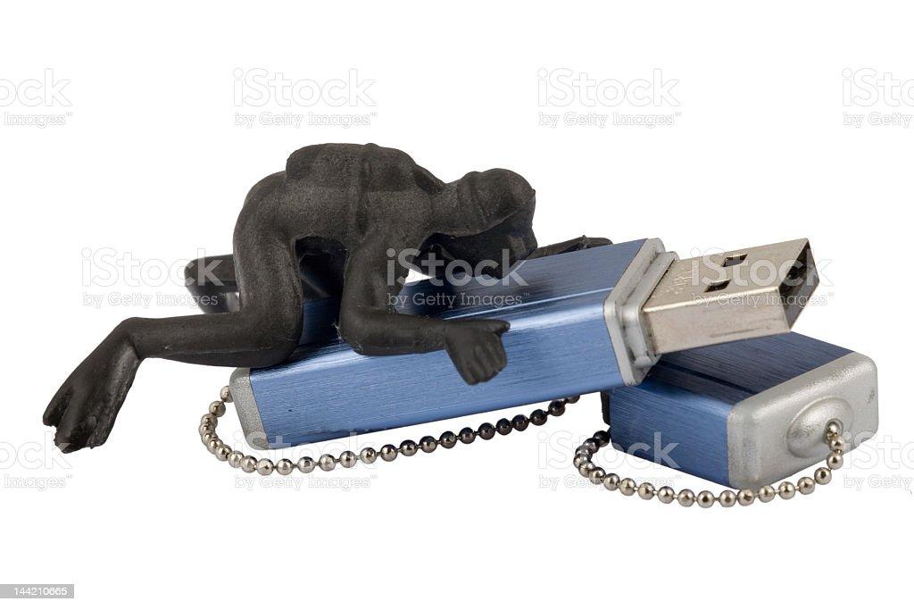 'Black' USB data reading royalty-free stock photo