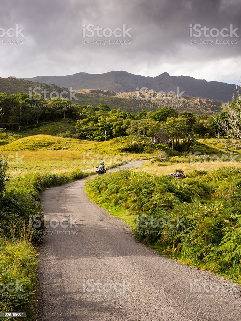 Black Valley and Macgillycuddy's Reeks stock photo