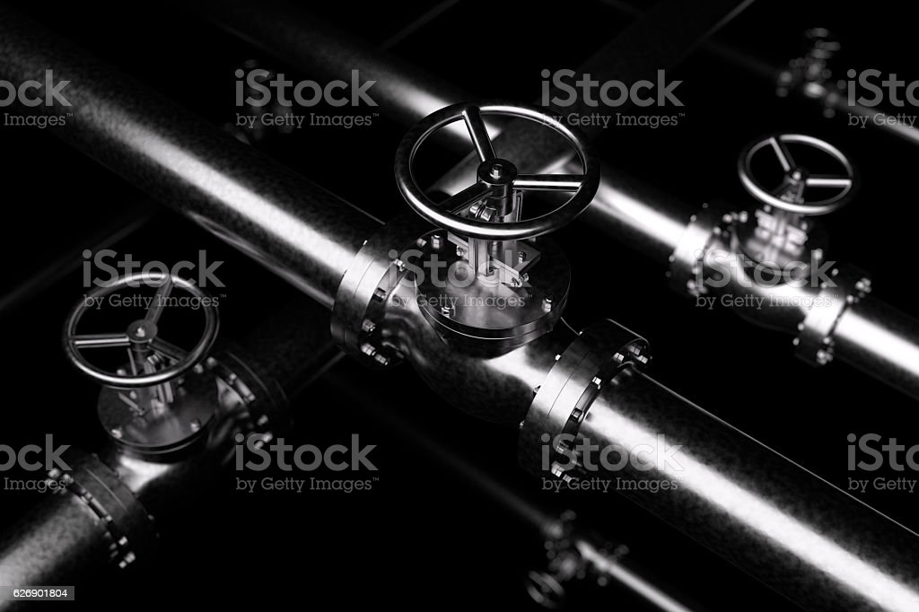 Black Valves Background stock photo
