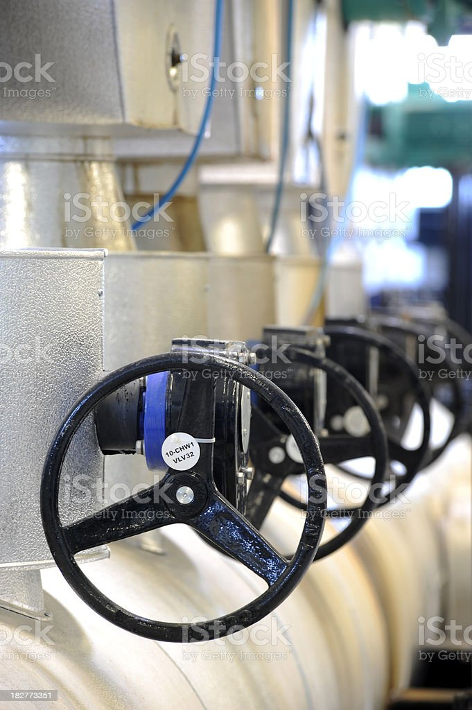 Black valves stock photo