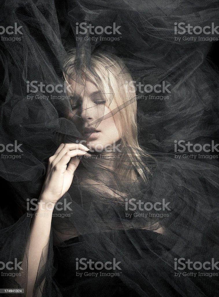 Black veil stock photo