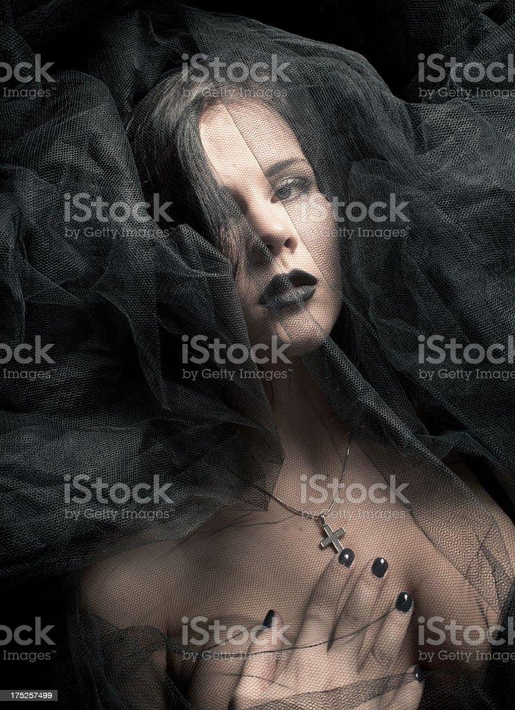 Black veil royalty-free stock photo