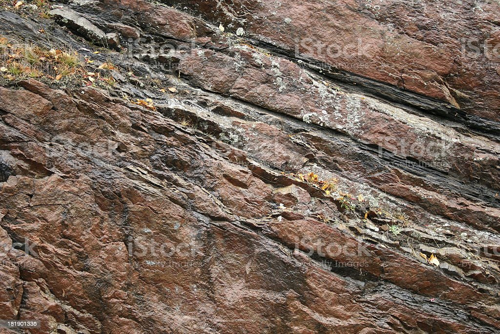 Black veined Red Granite stock photo