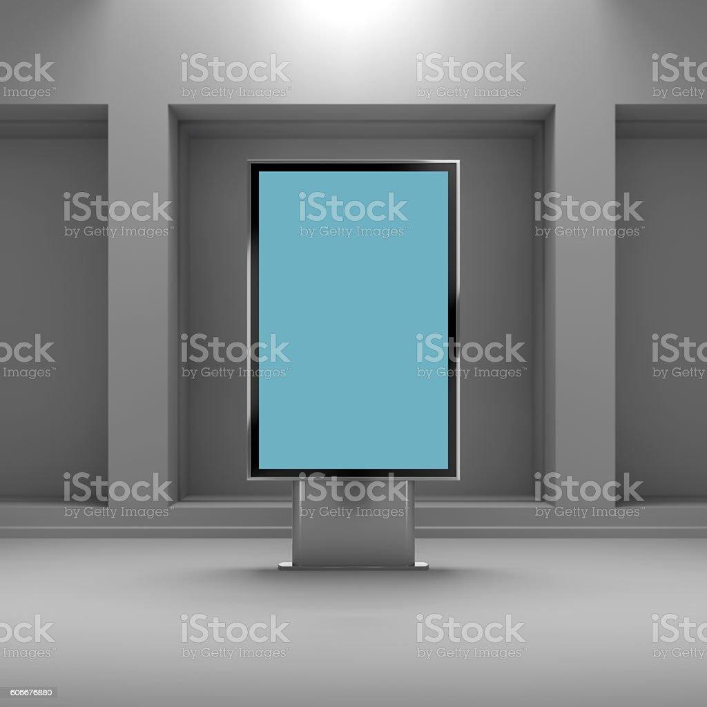 Black vertical monitor mockup stock photo