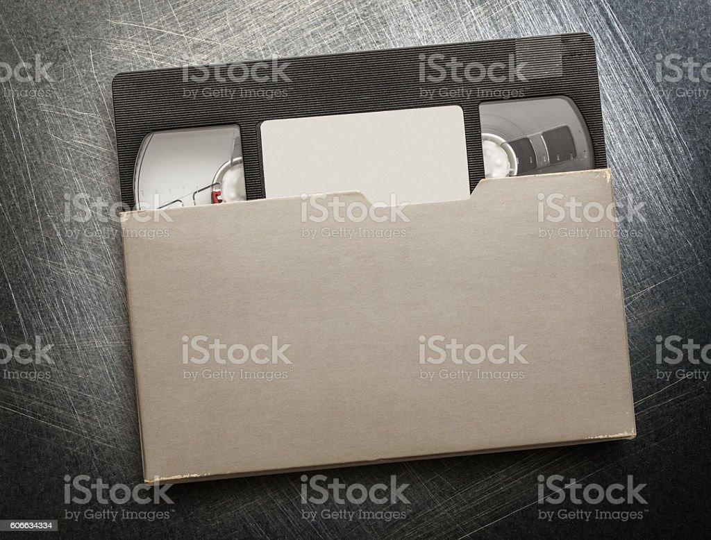 Black video cassette stock photo