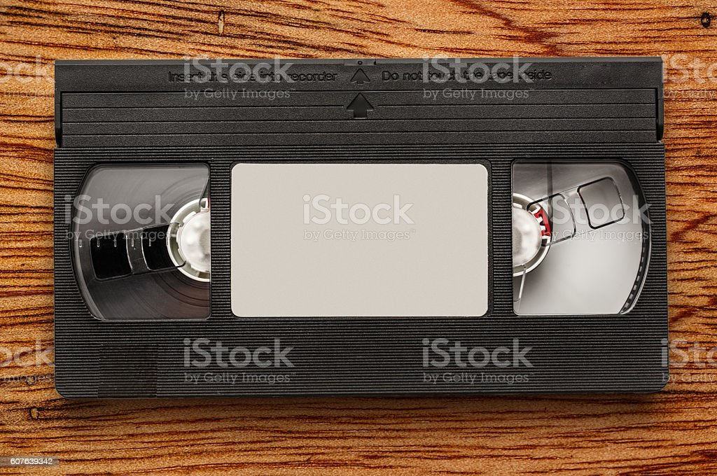 Black video cassette stock photo