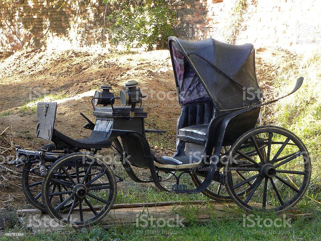 Black vintage chariot stock photo