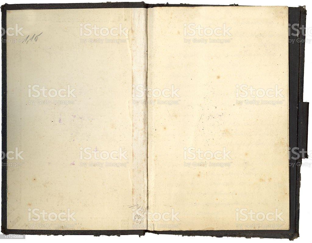 Black vintage scrapbook (XXL) royalty-free stock photo