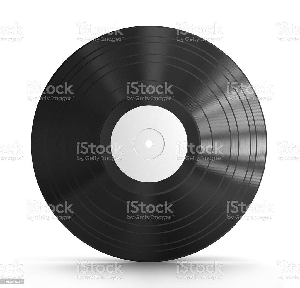 Black vinyl record royalty-free stock photo