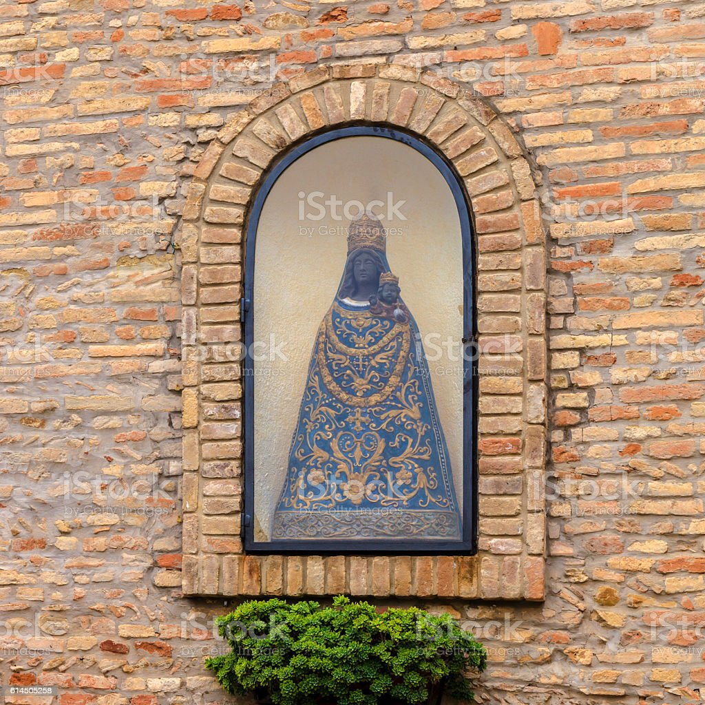 Black Virgin Mary and Jesus stock photo