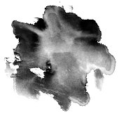 Black water coloring wash painting effect over white