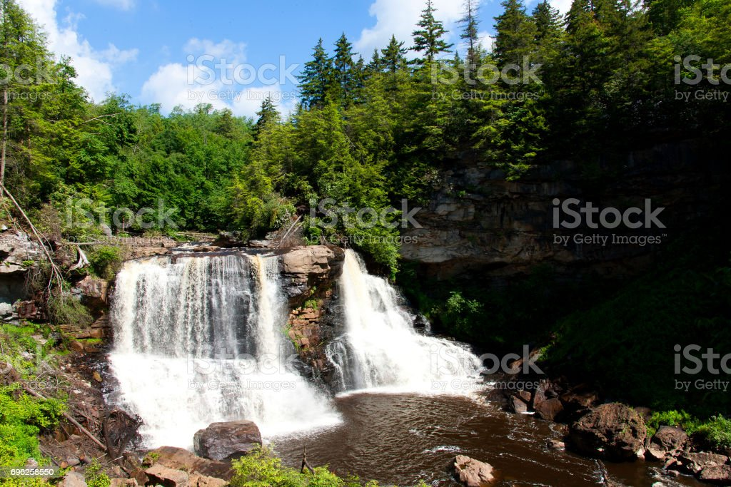 Black Water Falls State Park Davis West Virginia stock photo