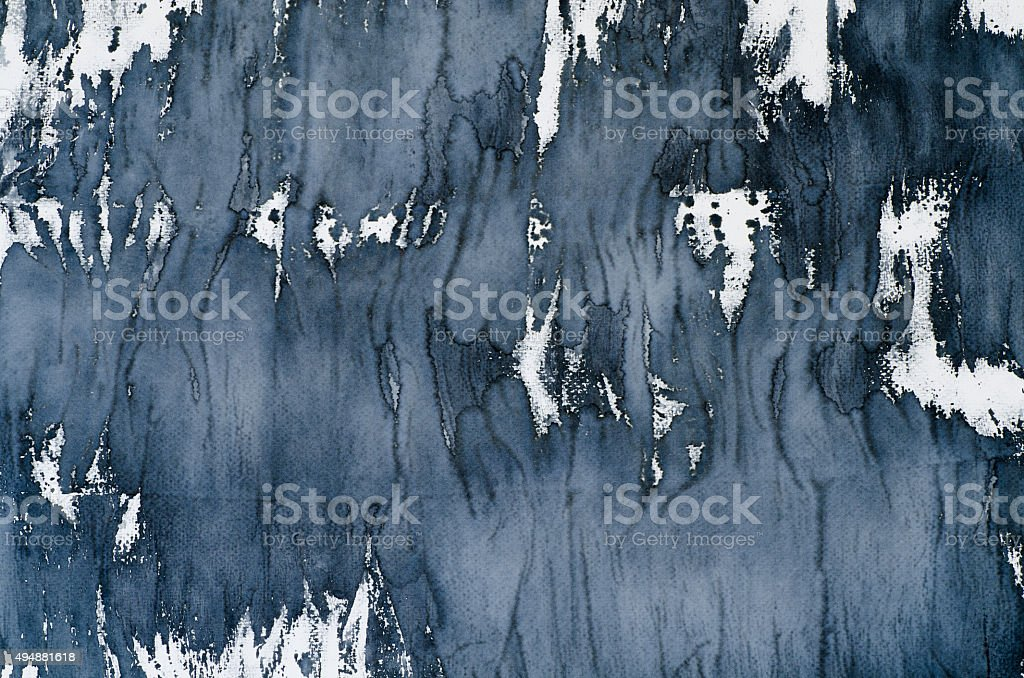 black watercolor background texture stock photo