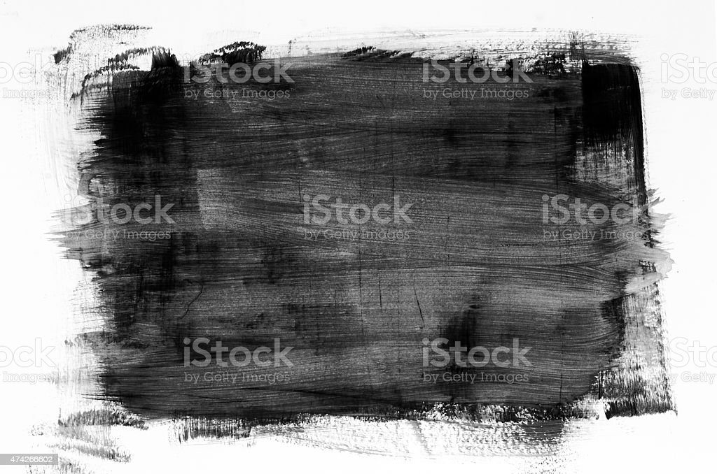 black watercolor painting texture stock photo