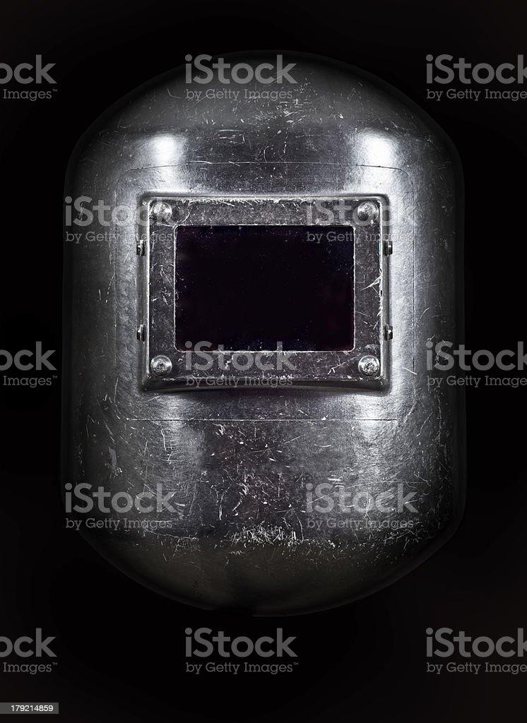 Black Welding Mask stock photo