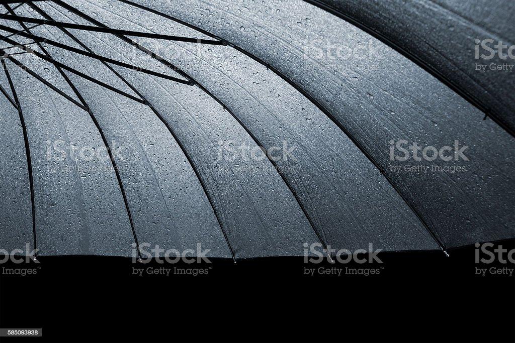 Black wet umbrella stock photo
