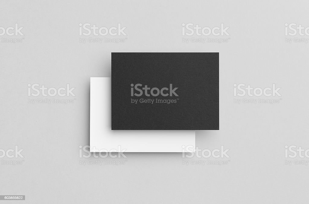 Black & White A6 Flyer / Postcard / Invitation Mock-Up stock photo