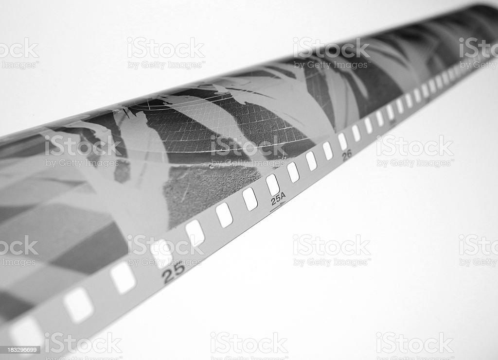 Black & White Film Negative royalty-free stock photo